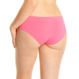 Fair Felicity - 6 Pack Multi Pack Panties With Lace Accent - Pink - Back
