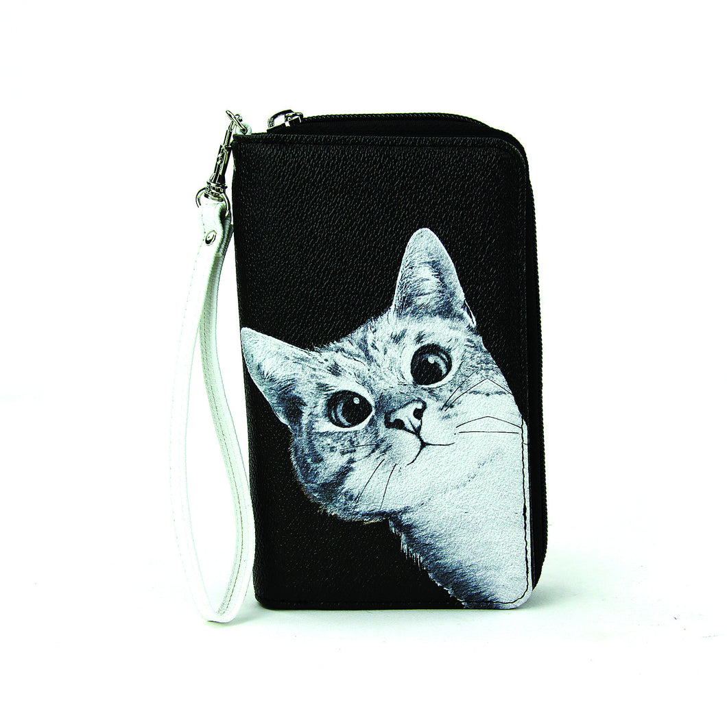 Peeking Cat Clutch Wallet