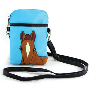 Chestnut Horse Small Pouch Crossbody Shoulder Bag