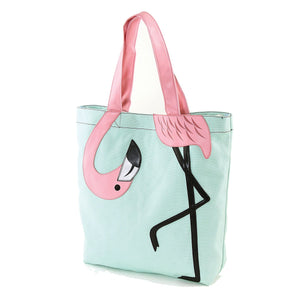 Bending Flamingo Canvas Tote Bag