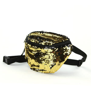 Fashionable Gold Sequin Fanny Pack