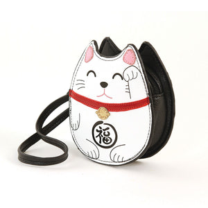Lucky Cat Zippered Coin Purse