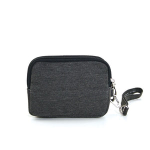 Canvas Mini Wallet Wristlet Bag with Film Camera Image