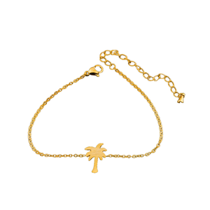 Palm Tree Anklet_Gold