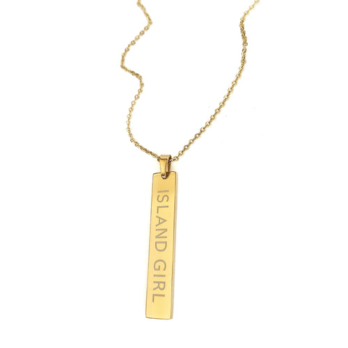 Adult Island Girl Necklace_Long Bar
