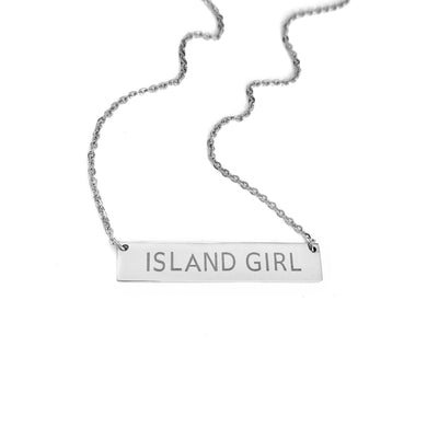 Original Island Girl Necklace_Silver Wide Bar