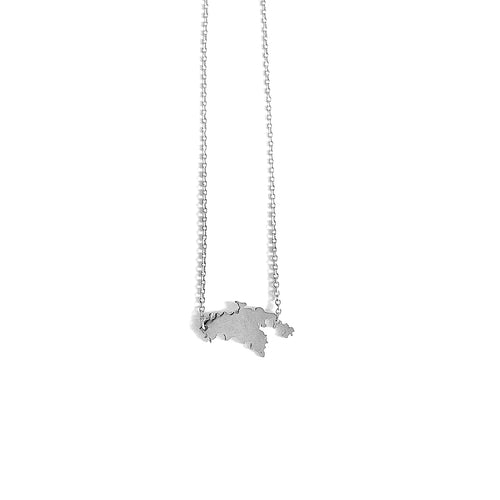 St. John Map Necklace_Silver