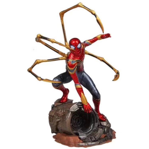 Hot toys Marvel Avengers Super Hero Spiderman Action Figures PVC Spider Man Figure Collectible Model Toys 25cm