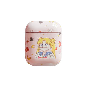 Cute Sailor Moon Pink airpods case Cartoon Accessories for Apple Airpods Charging bag Bluetooth earphone protective Cover cases