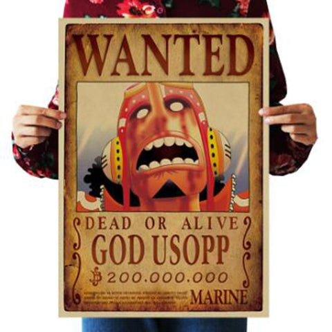 God Usopp One Piece Wanted Poster