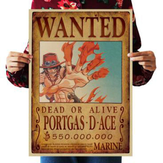 Portgas D Ace One Piece Wanted Poster
