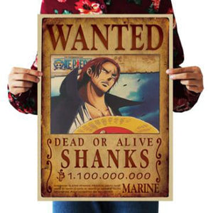 Shanks One Piece Wanted Poster