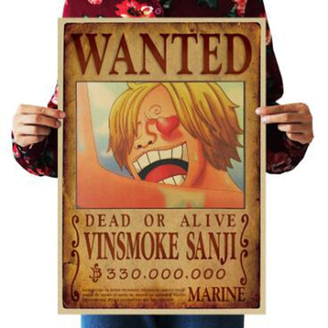 Vinsmoke Sanji One Piece Wanted Poster