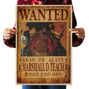 Marshall D Teach One Piece Wanted Poster
