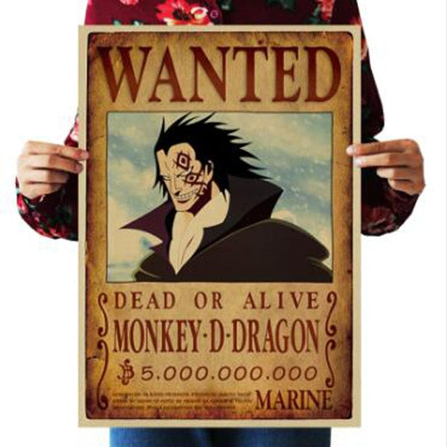 Monkey D Dragon One Piece Wanted Poster
