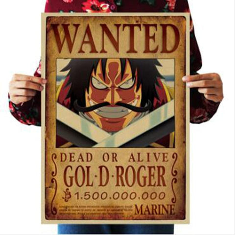 Gol D Roger One Piece Wanted Poster