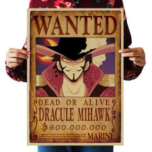 Dracule Mihawk One Piece Wanted Poster
