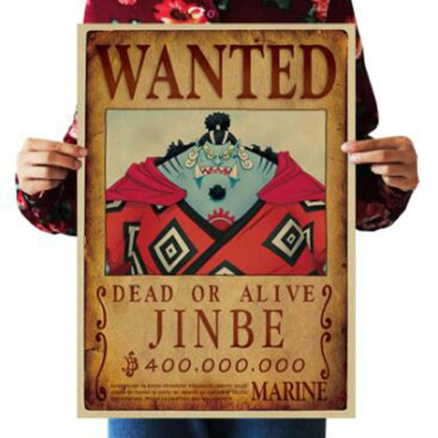 Jinbe One Piece Wanted Poster