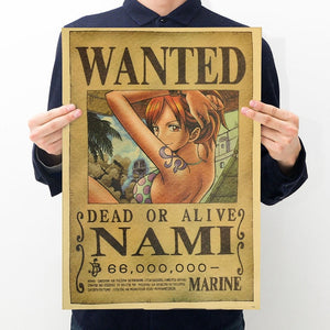 Nami One Piece Wanted Poster