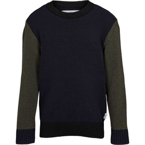 Kronstadt Kids Michael Crew Recycled Knits Navy/Army