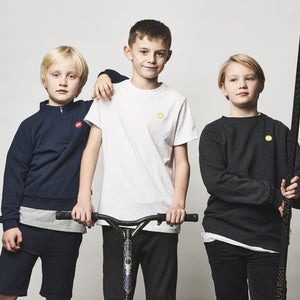 Kronstadt Kids Lars Crew Recycled Sweat Marble