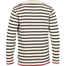 Load image into Gallery viewer, Kronstadt Kids Oscar Stripe Knits Off White/Navy