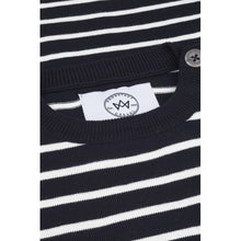 Load image into Gallery viewer, Kronstadt Kids Oscar Stripe Knits Navy/Off White