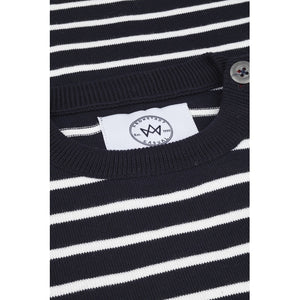 Kronstadt Kids Oscar Stripe Knits Navy/Off White