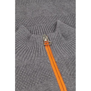 Kronstadt Kids Jacob Zip Knits Cardigan Anthracite/Orange
