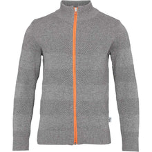 Load image into Gallery viewer, Kronstadt Kids Jacob Zip Knits Cardigan Anthracite/Orange