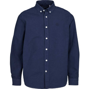 Kronstadt Kids Johan Oxford Washed Shirts L/S Blue