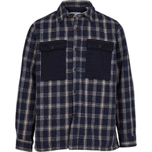 Load image into Gallery viewer, Kronstadt Kids Oliver Check Shirts L/S Navy