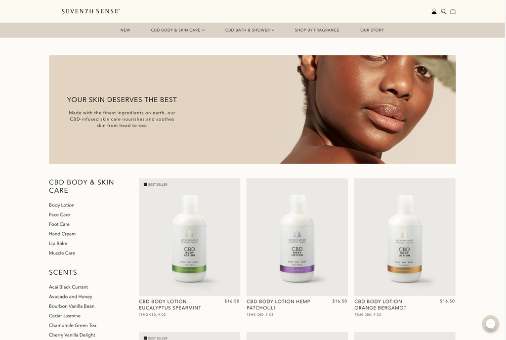 Seventh sense body and skin care category