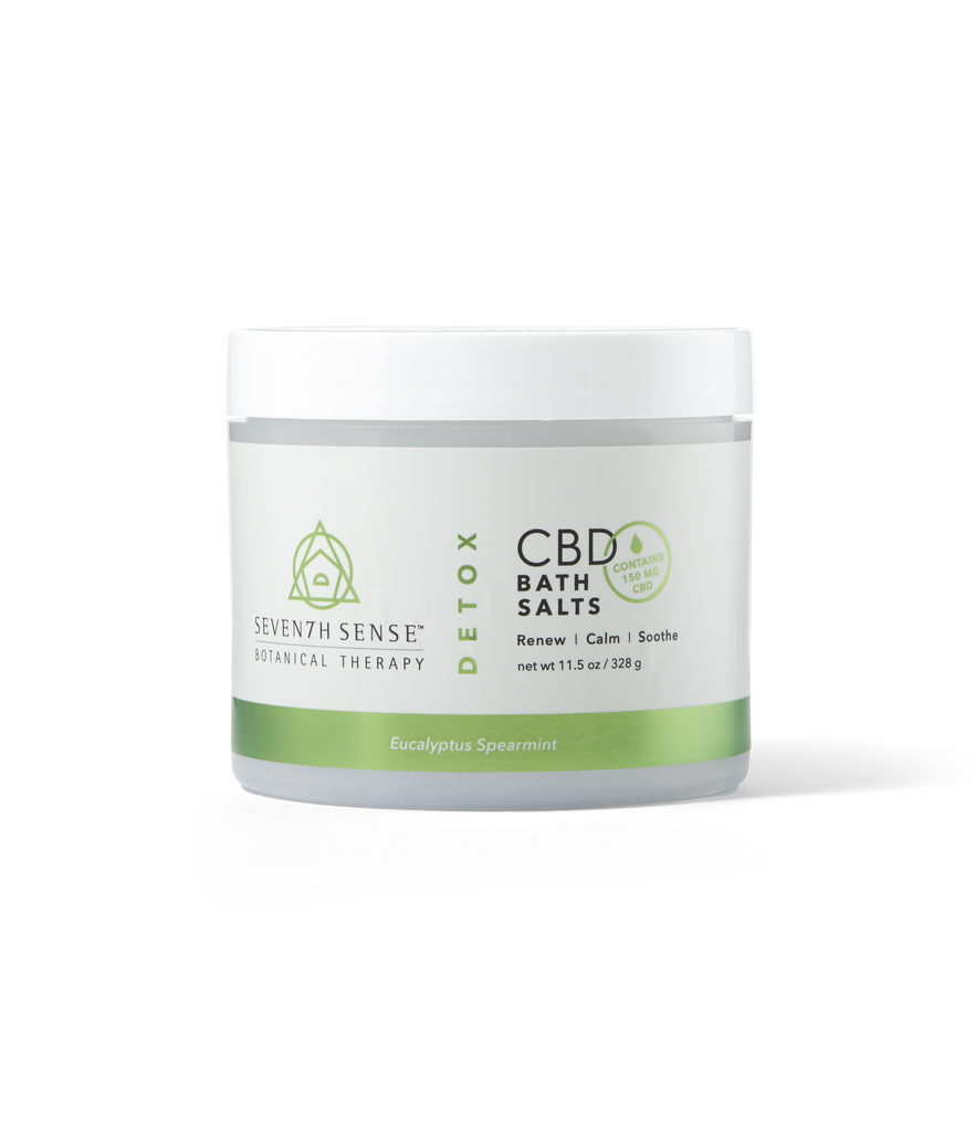 CBD Bath Salts Eucalyptus Spearmint
