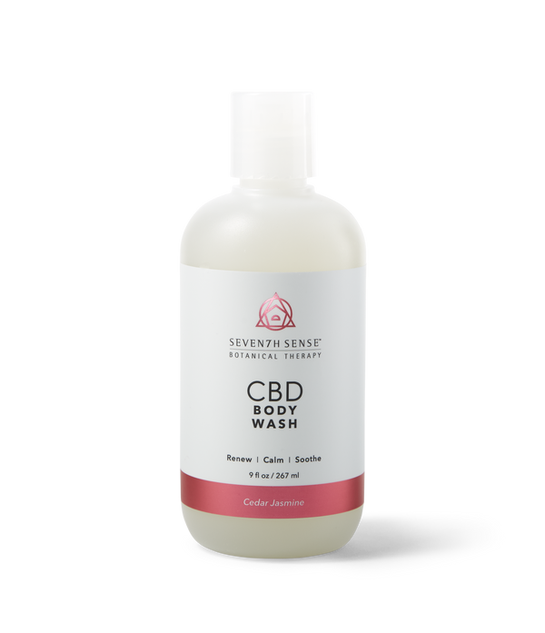 CBD Body Wash Cedar Jasmine