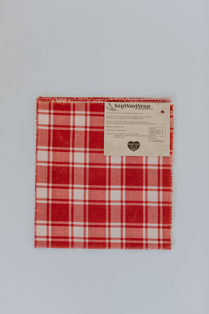 Plastic Free Soy Wrap Large Red
