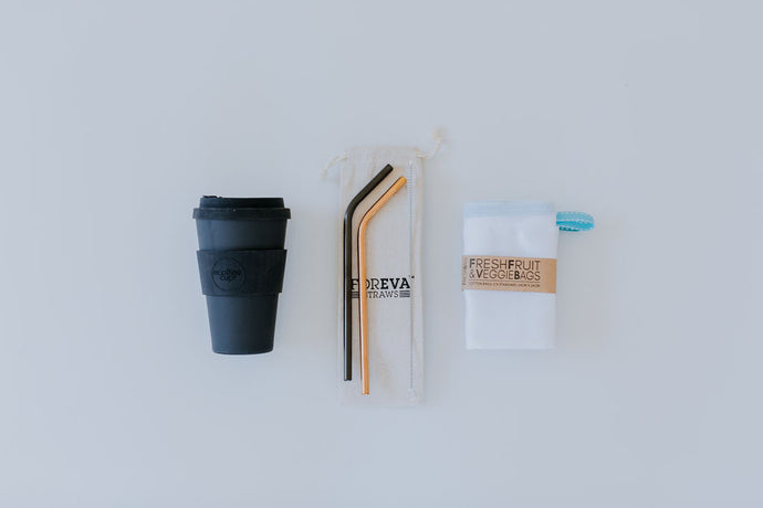 Zero Waste Out and About Kit with Coffee Cup