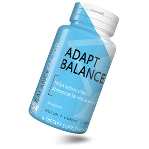 Adapt Balance | Ashwagandha | bottle image front view tilted right