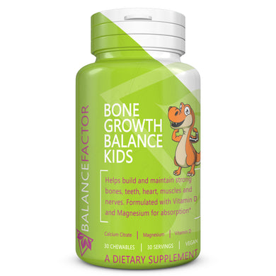 Bone Growth Balance Kids | Kids Calcium | bottle image front view