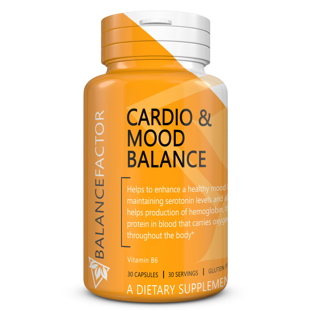 Cardio and Mood Balance | Vitamin B6 | bottle image front view