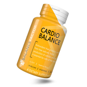 Cardio Balance | CoQ10 | bottle image front view tilted right