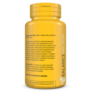 Cellular Balance | Alpha Lipoic Acid | bottle image side view