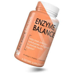 Enzyme Balance bottle image front view tilted right