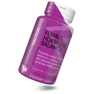 Female Hormone Balance | Vitex | bottle image front view tilted right