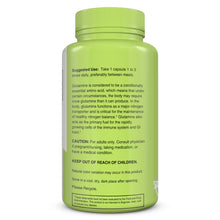 Load image into Gallery viewer, Glutamine Balance | Glutamine | bottle image side view