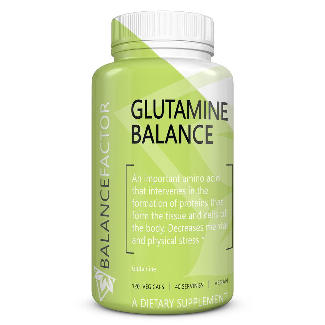 Glutamine Balance | Glutamine | bottle image front view