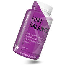 Load image into Gallery viewer, HSN Balance | Hair, Skin & Nails | bottle image front view tilted right