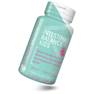 Intestinal Balance Kids | Probiotics | bottle image front view tilted right