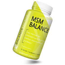 Load image into Gallery viewer, MSM Balance | Methylsulfonylmethane | bottle image front view tilted right