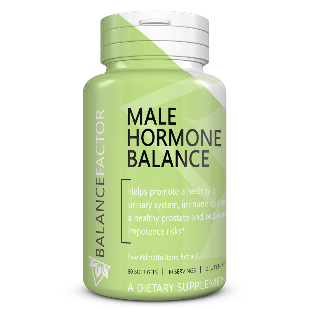 Male Hormone Balance | Saw Palmetto | bottle image front view